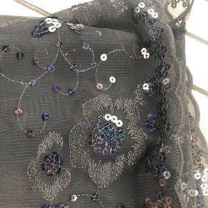 Accessories - Beaded Sheer Shawl